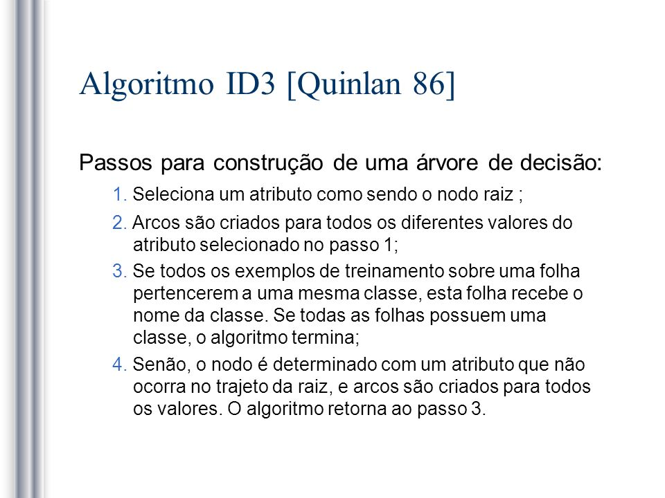 Algoritmo ID3 [Quinlan 86]